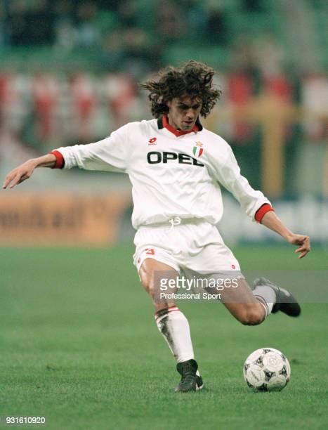Paolo Maldini of AC Milan in action circa 1995