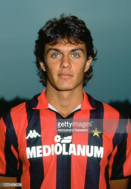 Paolo Maldini of AC Milan poses for photo during the Serie A 1987-88, Italy.