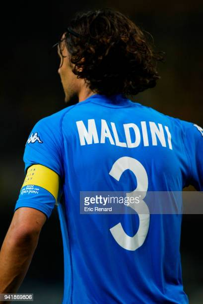 Paolo Maldini of Italy during the World Cup match between Italy and Ecuador on 3rd June 2002 at Sapporo Dome Sapporo Japan