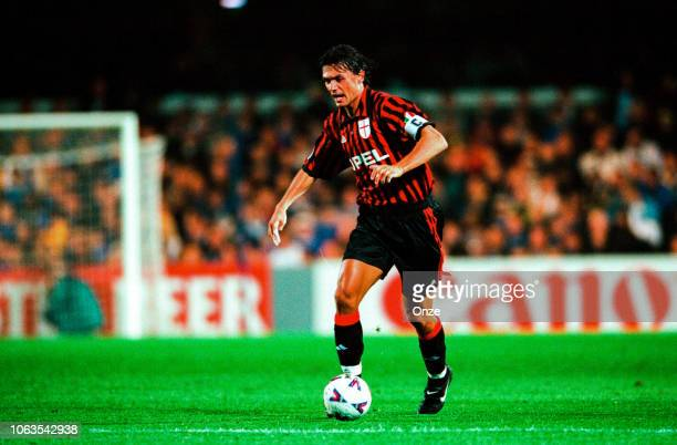 Paolo Maldini of Milan AC during the UEFA Champions League match between Chelsea and Milan AC at Stamford Bridge London United Kingdom on September...