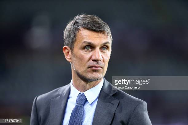 Paolo Maldini technical director of AC Milan looks on before the Serie A match between Torino Fc and Ac Milan Torino Fc wins 21 over Ac Milan