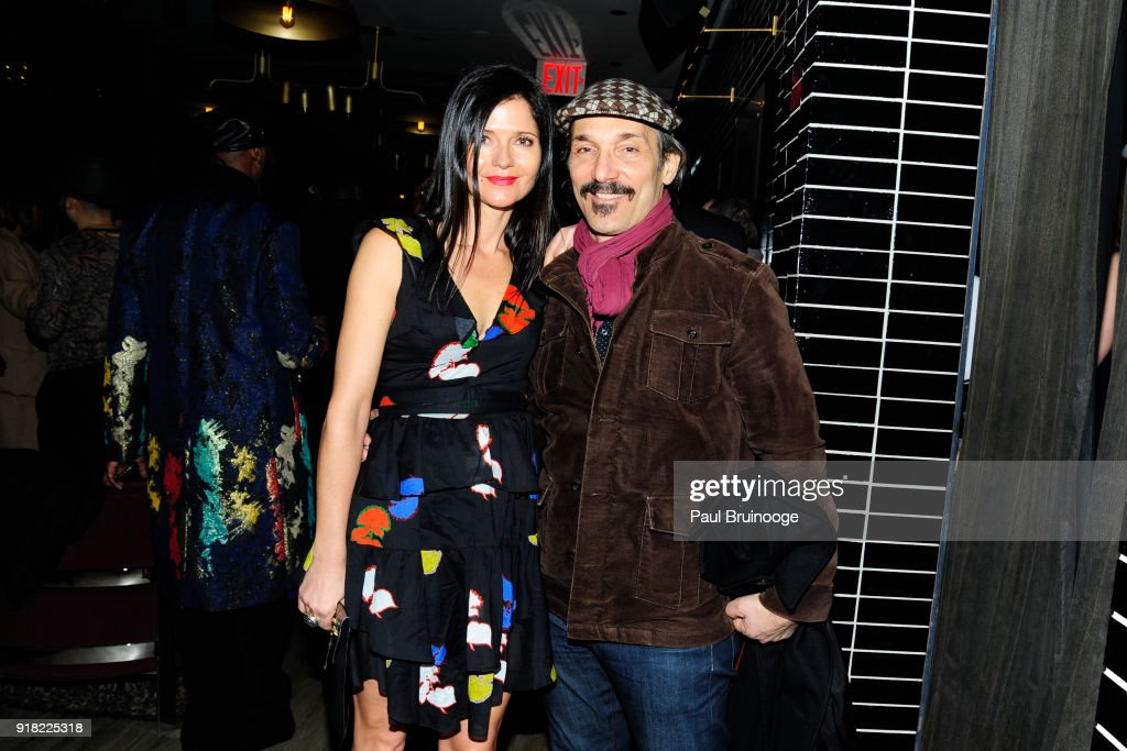 Paolo Mastropietro and Jill Hennessy attend The Cinema Society with Ravage Wines & Synchrony host the after party for Marvel Studios' 'Black Panther' at The Skylark on February 13, 2018 in New York City.