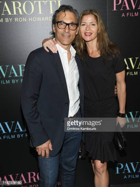 Paolo Mastropietro and Jill Hennessy attend the Pavarotti New York Screening at iPic Theater on May 28 2019 in New York City
