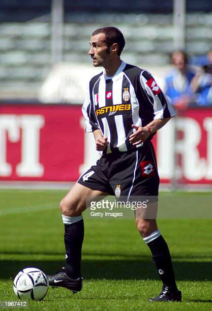 Paolo Montero of Juventus in action during the Serie A match between Juventus and Brescia played at the Stadio Delle Alpi Turin Italy on April 27 2003