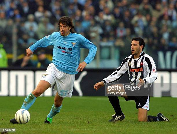 Paolo Negro of Lazio in action during the Serie A match between Lazio and Udinese, played at the Stadio Olimpico, Rome, Italy on January 19, 2003.