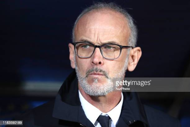 Paolo Nicolato coach of Italy during the UEFA U21 European Championship Qualifier match between Italy and Armenia at Stadio Angelo Massimino on...