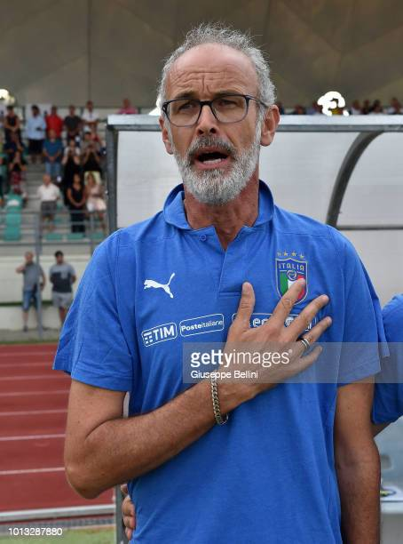 Paolo Nicolato head coach of Italy U20 prior to the International Friendly match between Italy U20 and San Marino U20 on August 8 2018 in Misano...