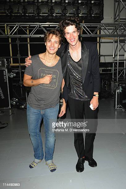 Paolo Nutini and Ivan Olita attend Milan Range Rover Presents Evoque Live to celebrate the global tour of the Range Rover Evoque at Super Studio on...