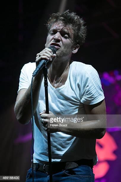 Paolo Nutini performs at Media City Amphitheatre on April 10 2015 in Dubai United Arab Emirates