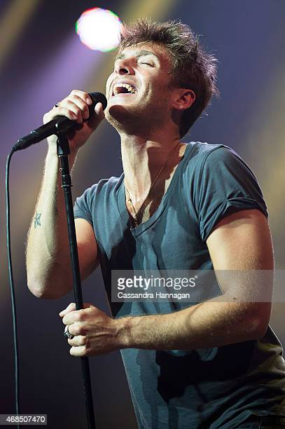 Paolo Nutini performs live for fans at the 2015 Byron Bay Bluesfest on April 3 2015 in Byron Bay Australia