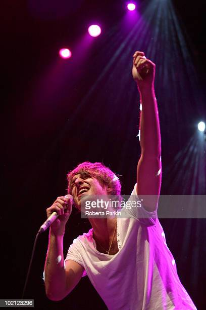 Paolo Nutini performs on stage as part of Richard Thompson's Meltdown at the Royal Festival Hall on June 15 2010 in London England