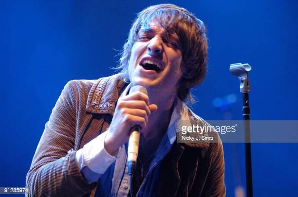 Paolo Nutini performs on stage at Hammersmith Apollo on September 30 2009 in London England