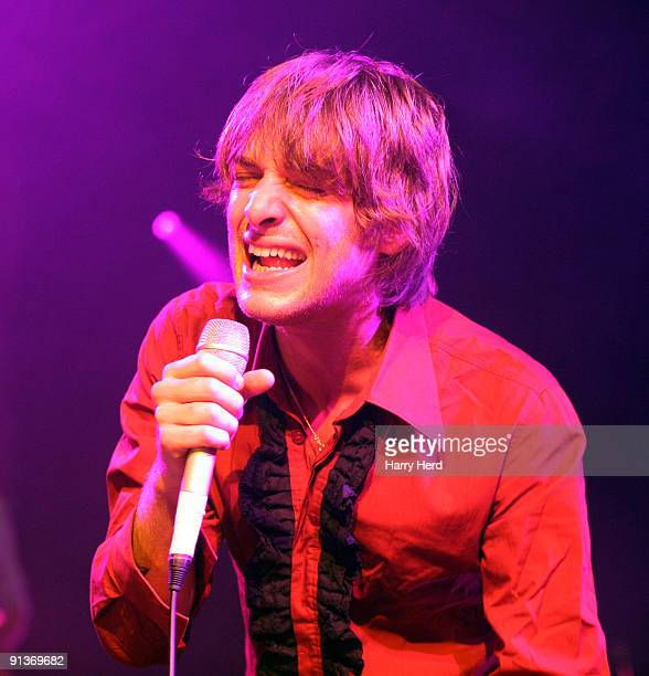 Paolo Nutini performs on stage at the BIC on October 2 2009 in Bournemouth England