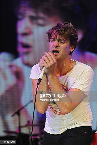 Paolo Nutini performs to celebrate the global tour of the Range Rover Evoque at Super Studio on May 21 2011 in Milan Italy