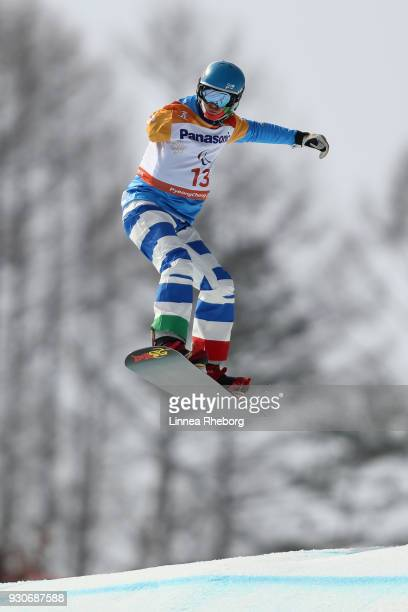 Paolo Priolo of Italy in action during the Men's Cross SBUL Qualification during day three of the PyeongChang 2018 Paralympic Games on March 12 2018...