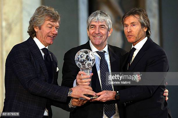 Paolo Rossi former Italian footballer and World FIFA Champion Spain in 1982 and top scorer during the Italian Football Federation Hall of Fame...