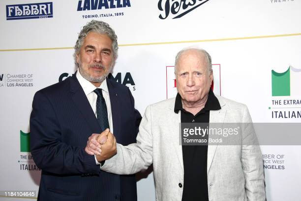 Paolo Rossi Pisu and Richard Dreyfuss attend the Lina Wertmuller True Italian Taste Gala Reception Dinner CoHosted By The ItalyAmerica Chamber Of...