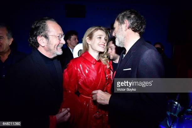 Paolo Roversi Natalia Vodianova and Anton Corbijn attend Natalia Vodianova's birthday Vogue Cabaret Party as part of the Paris Fashion Week...