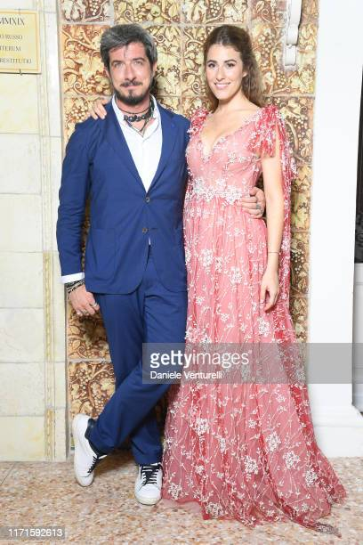 Paolo Ruffini and Diana Del Bufalo attend the Filming in Italy dinner during the 76th Venice Film Festival at Hotel Hungaria on September 01 2019 in...