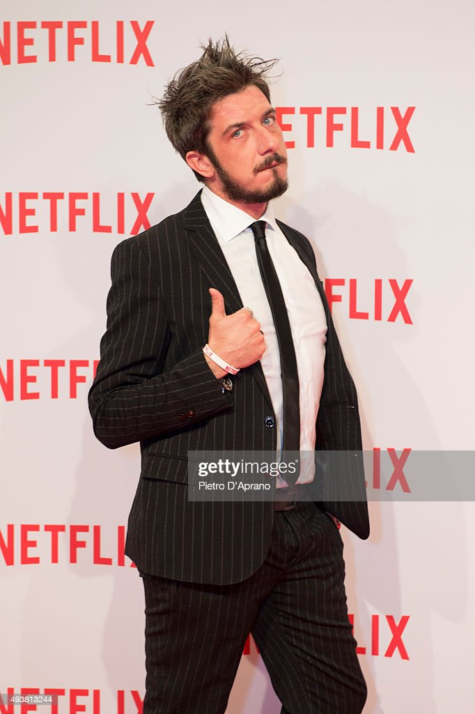 Paolo Ruffini attends the red carpet for the Netflix launch at Palazzo Del Ghiaccio on October 22, 2015 in Milan, Italy.