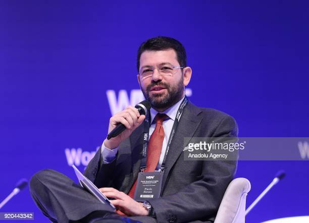Paolo Sironi FinTech Thought Leader speaks during the Expected Outputs of WBAF 2018 panel within the World Business Angels Investment Forum at...