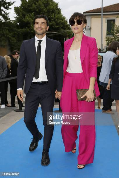Paolo Sopranzetti and Anna Foglietta attend a photocall ahead of the Nastri D'Argento nominees presentation at Maxxi Museum on May 29 2018 in Rome...