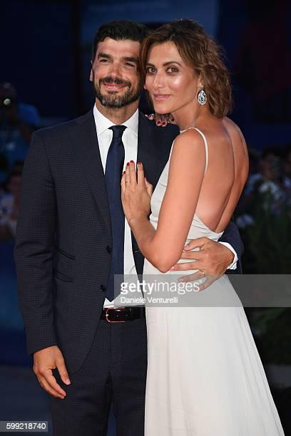 Paolo Sopranzetti and Anna Foglietta attend the Kineo Diamanti Award Ceremony during the 73rd Venice Film Festival on September 4, 2016 in Venice,...