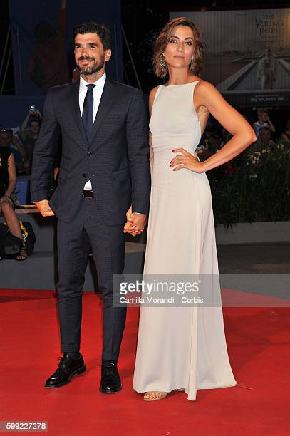 Paolo Sopranzetti and Anna Foglietta attend the Kineo Diamanti Award Ceremony during the 73rd Venice Film Festival at on September 4 2016 in Venice...