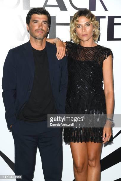 Paolo Sopranzetti and Anna Foglietta attend the Vanity Fair Black And White Ball Photocall during the 76th Venice Film Festival at Scuola Grande...