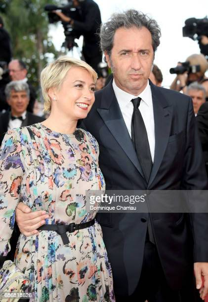 Paolo Sorrentino and Daniela D'Antonio attend the 'The Killing Of A Sacred Deer' screening during the 70th annual Cannes Film Festival at Palais des...