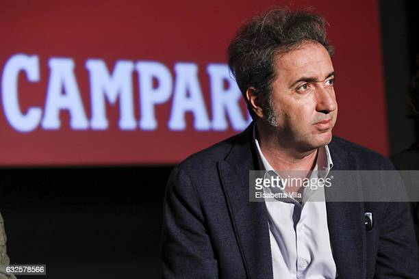 Paolo Sorrentino attends the 'Campari Red Diaries' press conference on January 24 2017 in Rome Italy