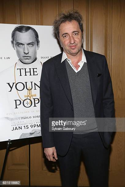 """Paolo Sorrentino attends The Cinema Society Hosts a Screening of HBO's """"The Young Pope"""" on January 11, 2017 in New York City."""