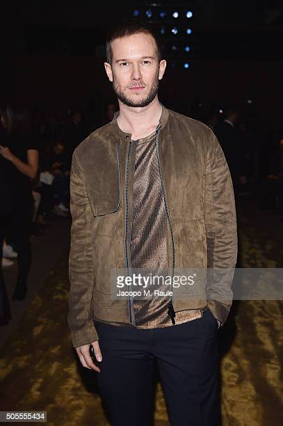 Paolo Stella attends the Fendi show during Milan Men's Fashion Week Fall/Winter 2016/17 on January 18 2016 in Milan Italy