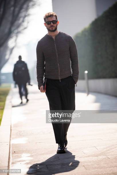 Paolo Stella is seen outside Emporio Armani on Day 2 Milan Fashion Week Autumn/Winter 2019/20 on February 21, 2019 in Milan, Italy.