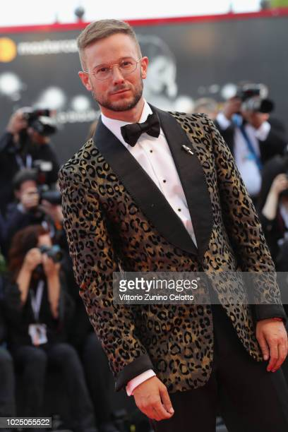 Paolo Stella walks the red carpet ahead of the opening ceremony and the 'First Man' screening during the 75th Venice Film Festival at Sala Grande on...