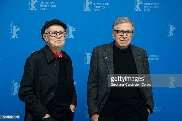 Paolo Taviani and Vittorio Taviani attend the Cesare Deve Morire Photocall during the 62nd Berlin International Film Festival in Berlin