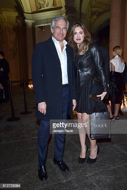 Paolo Veronesi attends Vogue Cocktail Party honoring photographer Mario Testino on February 27 2016 in Milan Italy