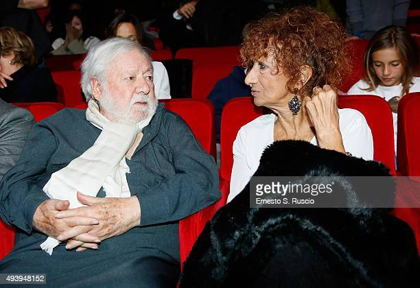 Paolo Vilaggio and Anna Mazzamauro attend the 'Tribute To Paolo Villaggio' during the 10th Rome Film Fest on October 23 2015 in Rome Italy