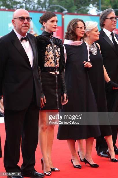 Paolo Virzì Stacy Martin Jury President Lucrecia Martel jury member Mary Harron walk the red carpet ahead of the Opening Ceremony and the La Vérité...