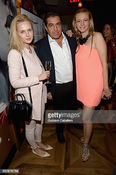 Paolo Zampolli and Alisa Roever attends the Haute Living Jet Smarter Honor Cover Star Anthony Mackie on May 18 2016 in New York City