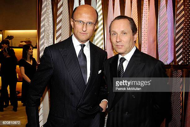 Paolo Zegna and Gildo Zegna attend ERMENEGILDO ZEGNA Store Opening Cocktail  Party For The Robin Hood b3472c88785