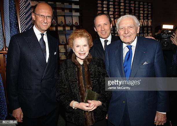 Paolo ZegnaLee TraubGildo Zegna and Marvin Traub attend the Ermenegildo  Zegna Store Opening on 5th Ave f1d4a074a91