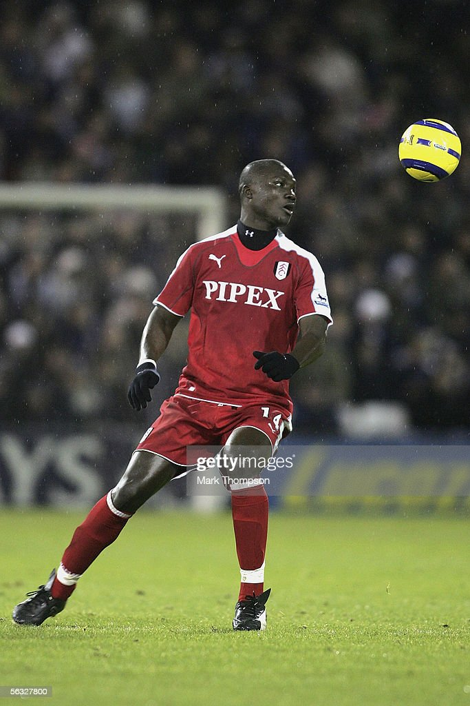 KINGDOM - DECEMBER 03 Papa Bouba Diop of Fulham during the Barclays Premiership match between West Bromwich Albion and Fulham on December 3, 2005 at the Hawthorns, England.