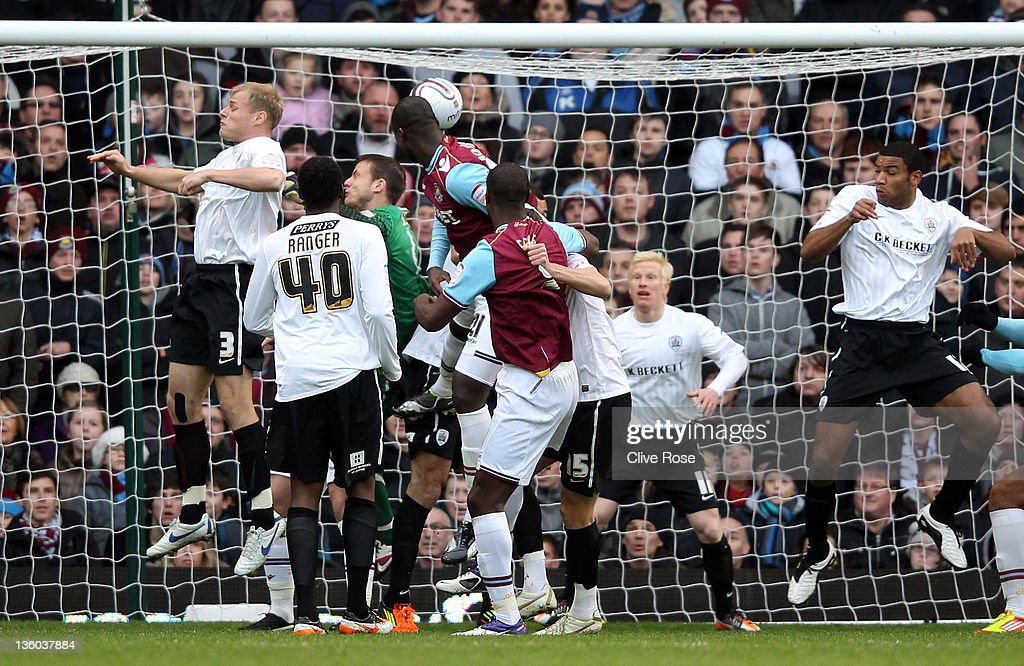 Papa Bouba Diop of West Ham United scores during the npower Championship match between West Ham United and Barnsley at the Boleyn Ground on December 17, 2011 in London, England.