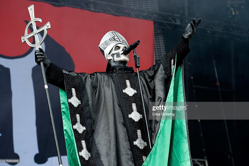 Papa Emeritus II of Ghost BC performs during Lollapalooza 2013 at Grant Park on August 2, 2013 in Chicago, Illinois.