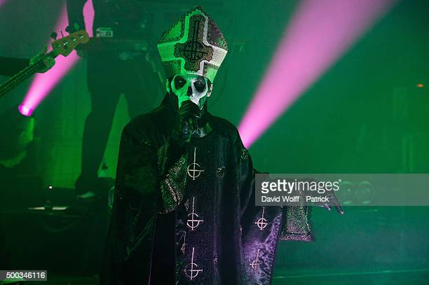 Papa Emeritus III from Ghost performs at La Cigale on December 7 2015 in Paris France