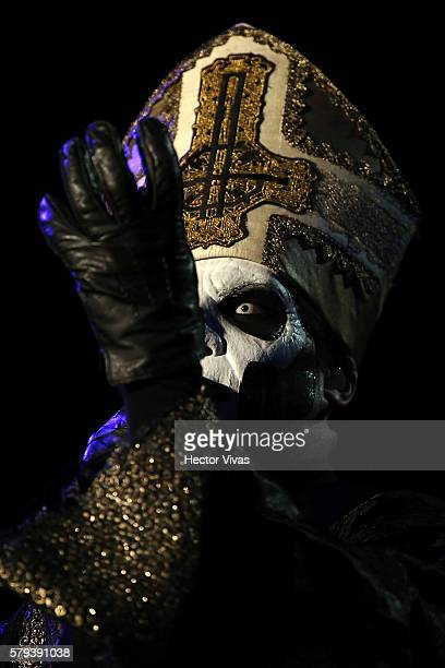 Papa Emeritus III singer of Ghost performs during a show as part of the Corona Hell & Heaven Metal Fest at Autodromo Hermanos Rodriguez on July 23,...