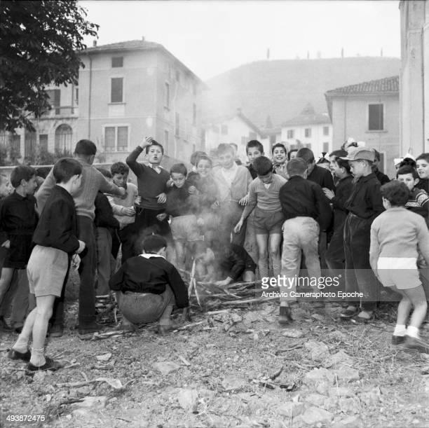Papa Giovanni 1958 joy celebration at Sotto il Monte for the election.
