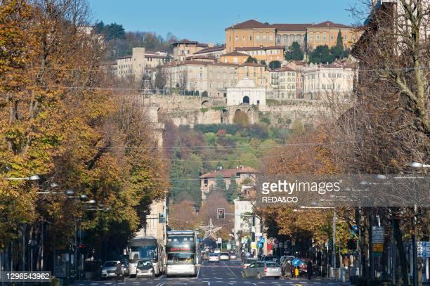 Papa Giovanni xxiii avenue. Bergamo. Lombardy. Italy.