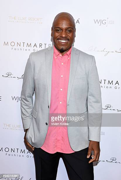 Papa Joe Aviance attends the Pia Gladys Perey Spring/Summer 2016 Fashion Show at Sofitel Hotel on October 23 2015 in Los Angeles California